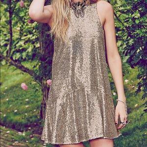 Free people liquid shine sequin dress